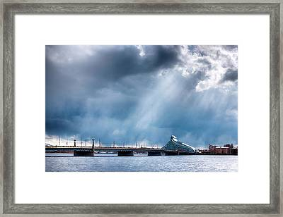 Framed Print featuring the photograph Akmens Tilts  by Fabrizio Troiani