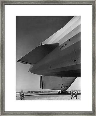 Akron Dirigible At Moffett Framed Print