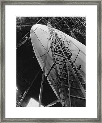 Akron Dirigible Construction Framed Print