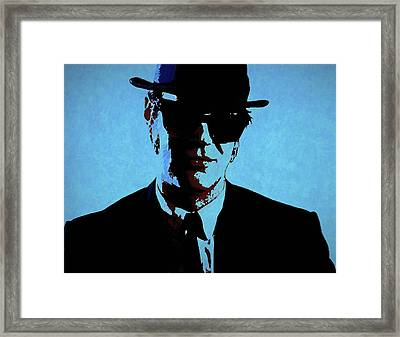 Akroyd Blues Brothers Framed Print by Dan Sproul
