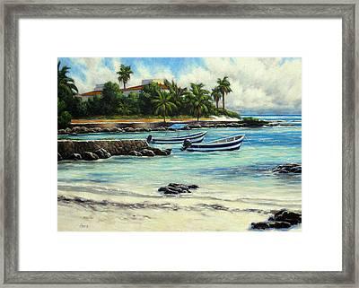 Akumal Bay Mexico Framed Print by Vickie Fears