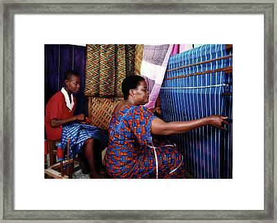 Akwete Weaving Framed Print