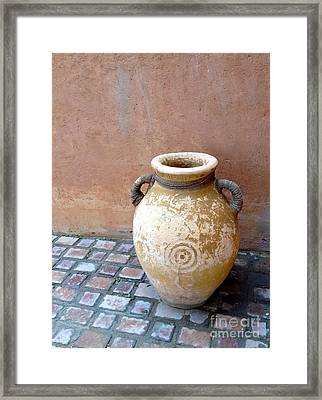 Al Ain Urn Framed Print