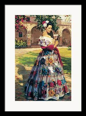 Embroidered Framed Prints