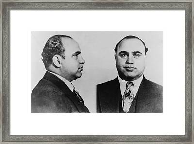 Al Capone 1899-1847, Prohibition Era Framed Print by Everett