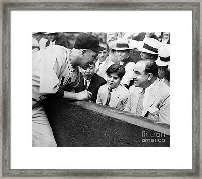 Al Capone At The Cubs Game Framed Print by Jon Neidert