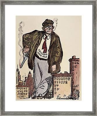 Al Capone Cartoon, 1930 Framed Print by Granger
