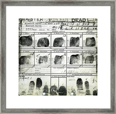 Al Capone Fingerprints Framed Print