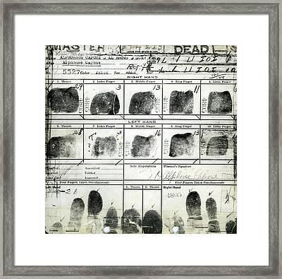 Al Capone Fingerprints Framed Print