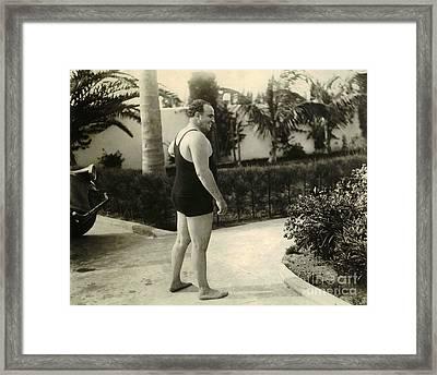 Al Capone In Florida Framed Print by Jon Neidert