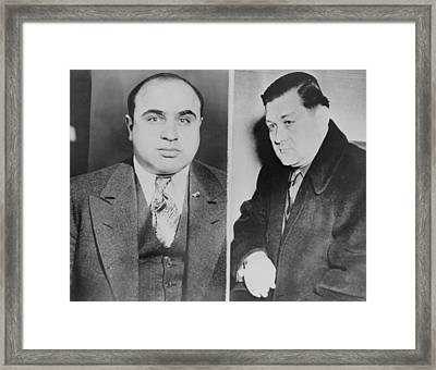 Al Capone Left And His Rival, George Framed Print by Everett