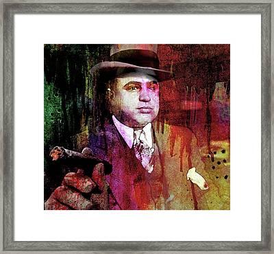 Al Capone Framed Print by Mal Bray