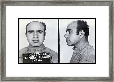 Al Capone Mugshot  1939 Framed Print by Daniel Hagerman