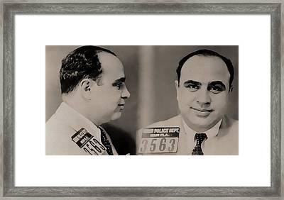 Al Capone Mugshot Framed Print