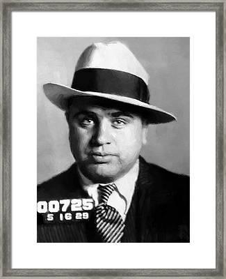Al Capone Mugshot Painterly Framed Print