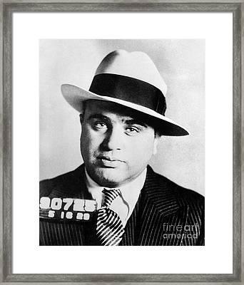 Al Capone Mugsot Framed Print by Jon Neidert