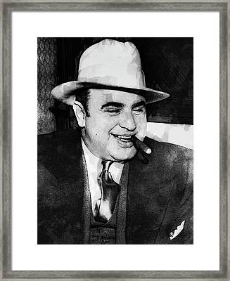 Al Capone Prohibition Boss Of Chicago Framed Print