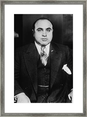 Al Capone - Scarface Framed Print by War Is Hell Store