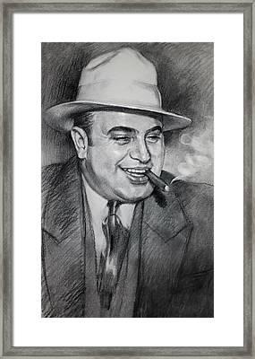 Al Capone  Framed Print by Ylli Haruni