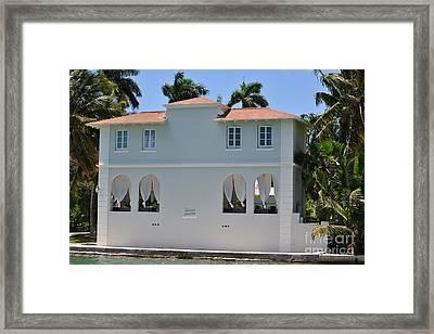 Al Capones Miami Pool House Framed Print by Daniel Diaz
