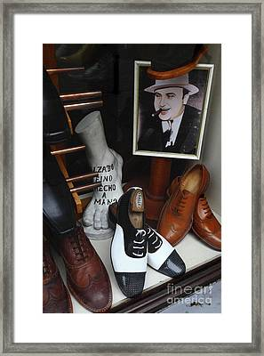 Al Capone's Shoe Collection Framed Print by James Brunker