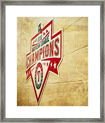 Al Champs Texture Framed Print by Malania Hammer