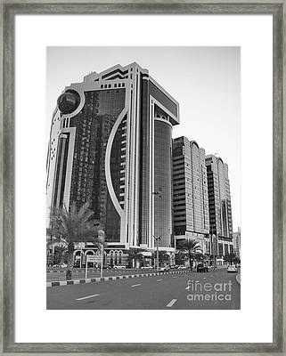Al Durrah Tower - Sharjah Framed Print by Hussein Kefel