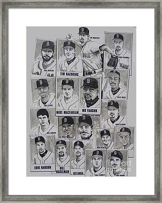 Al East Champions Red Sox Newspaper Poster Framed Print by Dave Olsen