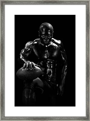 Al Fotball Black And White 1 Framed Print