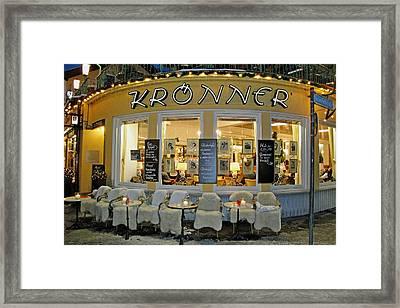 Al Fresco Dining Bavarian Style Framed Print by Robert Meyers-Lussier