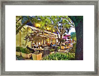 Framed Print featuring the photograph Al Fresco Dining by Chuck Staley