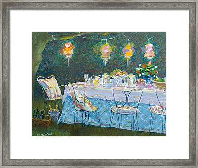 Al Fresco  Framed Print