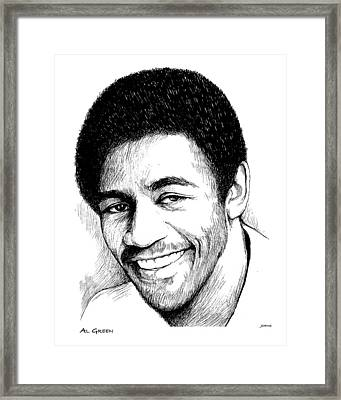 Al Green Framed Print by Greg Joens