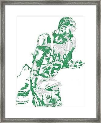 Al Horford Boston Celtics Pixel Art 5 Framed Print