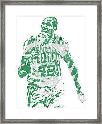 Al Horford Boston Celtics Pixel Art 7 Framed Print