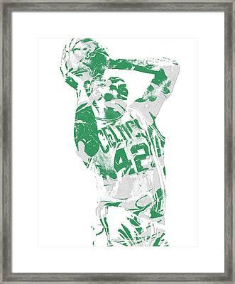 Al Horford Boston Celtics Pixel Art 8 Framed Print