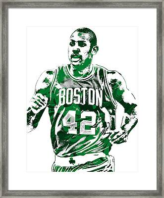 Al Horford Boston Celtics Pixel Art Framed Print by Joe Hamilton