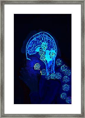 Al In The Mind Black Light View Framed Print
