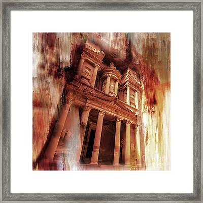 Al Khazneh Petra Jordan 01 Framed Print