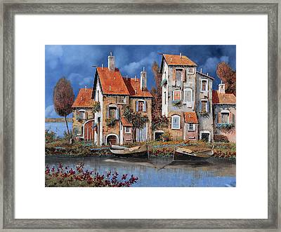 Al Lago Framed Print by Guido Borelli