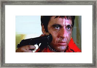 Al Pacino @ Scarface #1 Framed Print by Gabriel T Toro