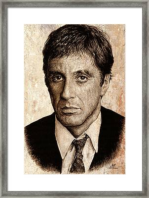 Al Pacino Framed Print by Andrew Read
