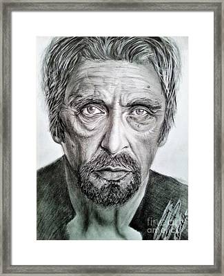 Al Pacino Framed Print by Balazs Sebok