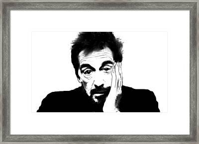 Al Pacino Bnw  Framed Print by Enki Art