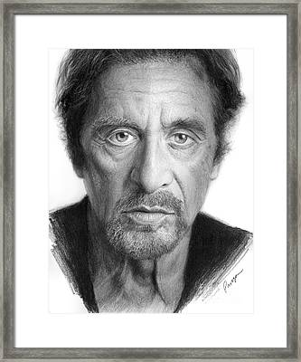 Al Pacino Framed Print by Christopher Panza