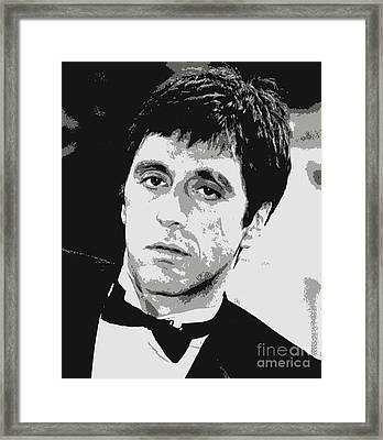 Al Pacino Graphic Design Framed Print by Pd