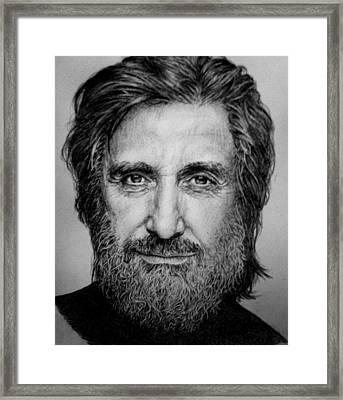 Al Pacino Framed Print by Jennifer Bryant