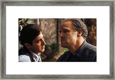 Al Pacino Marlon Brando The Godfather Publicity Photo 1972 Framed Print by David Lee Guss