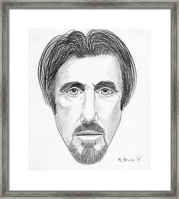 Al Pacino Framed Print by Michael Bruno