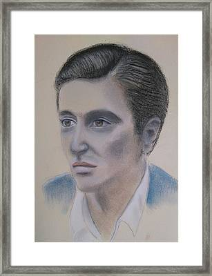 Al Pacino Framed Print by Paul Blackmore
